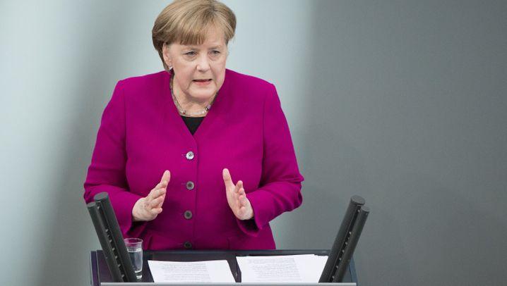 """Merkels Regierungserklärung: """"Inzwischen kennen Sie mich"""""""