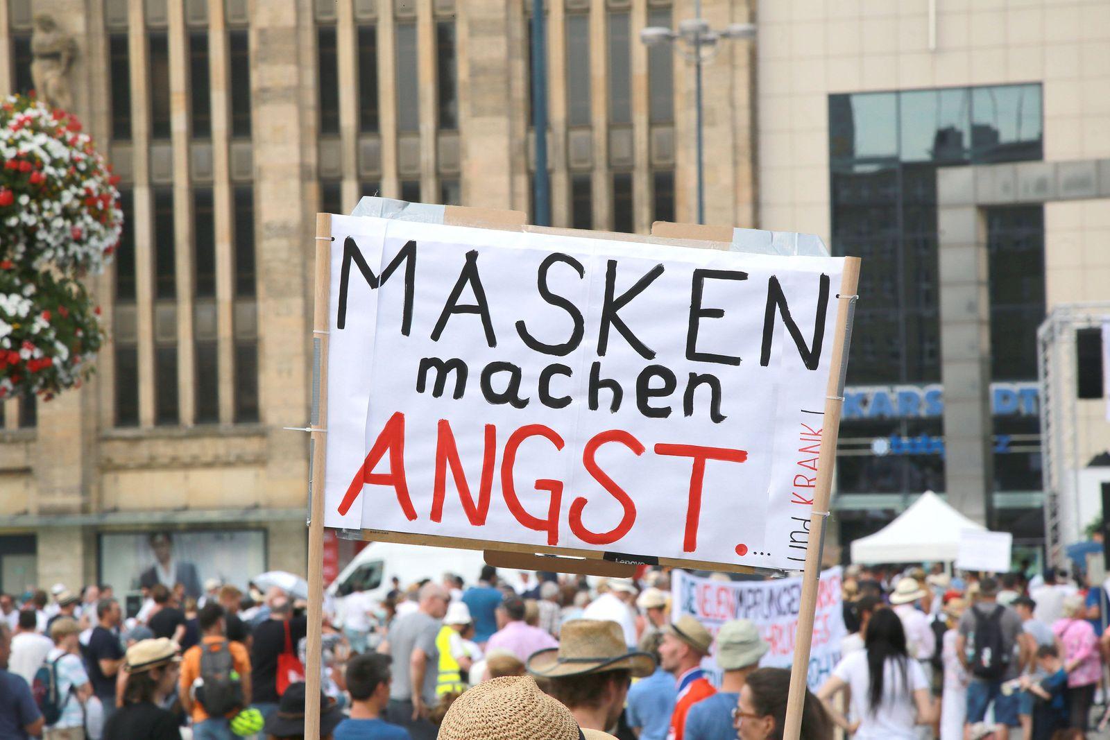 09.08.2020 Dortmund Die Organisation 231 Dortmund hat zur Anticorona Demonstartion / Kundgebung in die Dortmunder Innen
