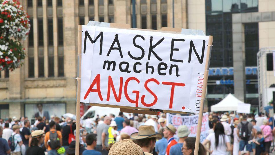 Demonstration gegen Corona-Schutzmaßnahmen (im August in Dortmund)