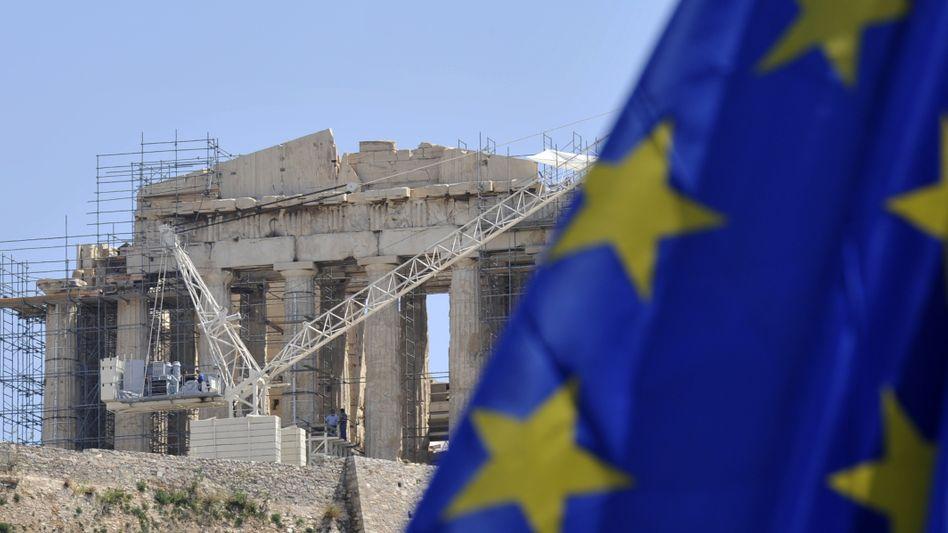Baustelle Akropolis: Griechenland darf weiter auf den Rettungsschirm hoffen