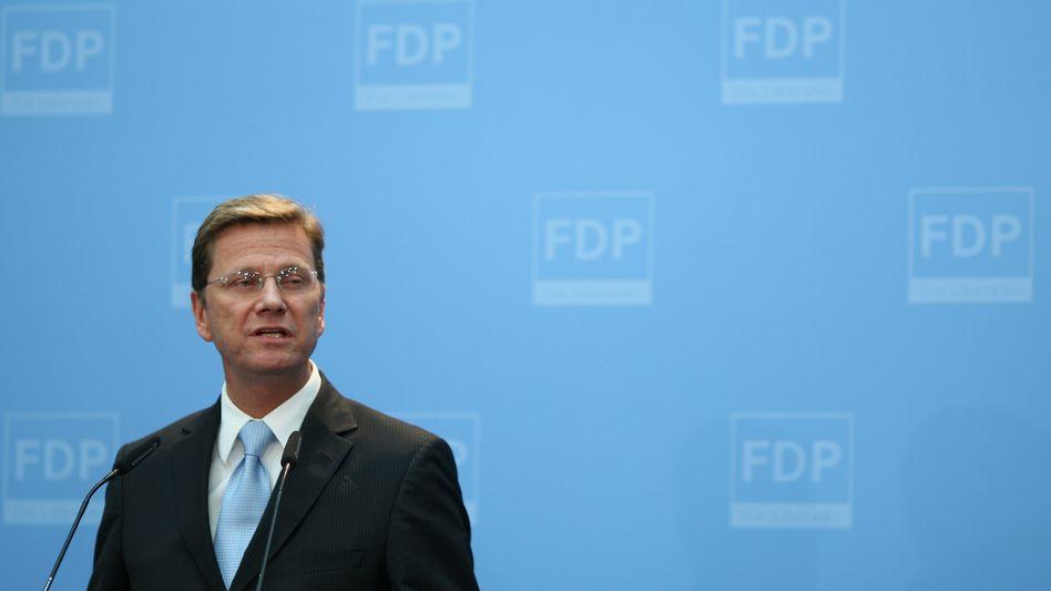 Parteichef Guido Westerwelle: keine Zeit für Auslandsreisen