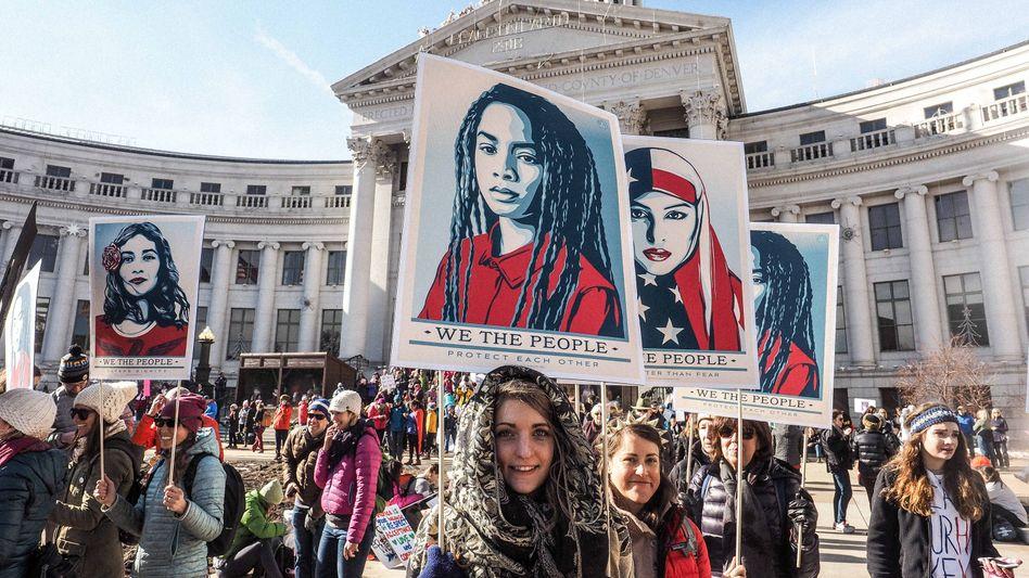 Marsch der Frauen in Denver