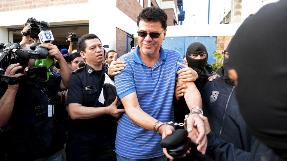 Reynaldo Vásquez während seiner Verhaftung 2015