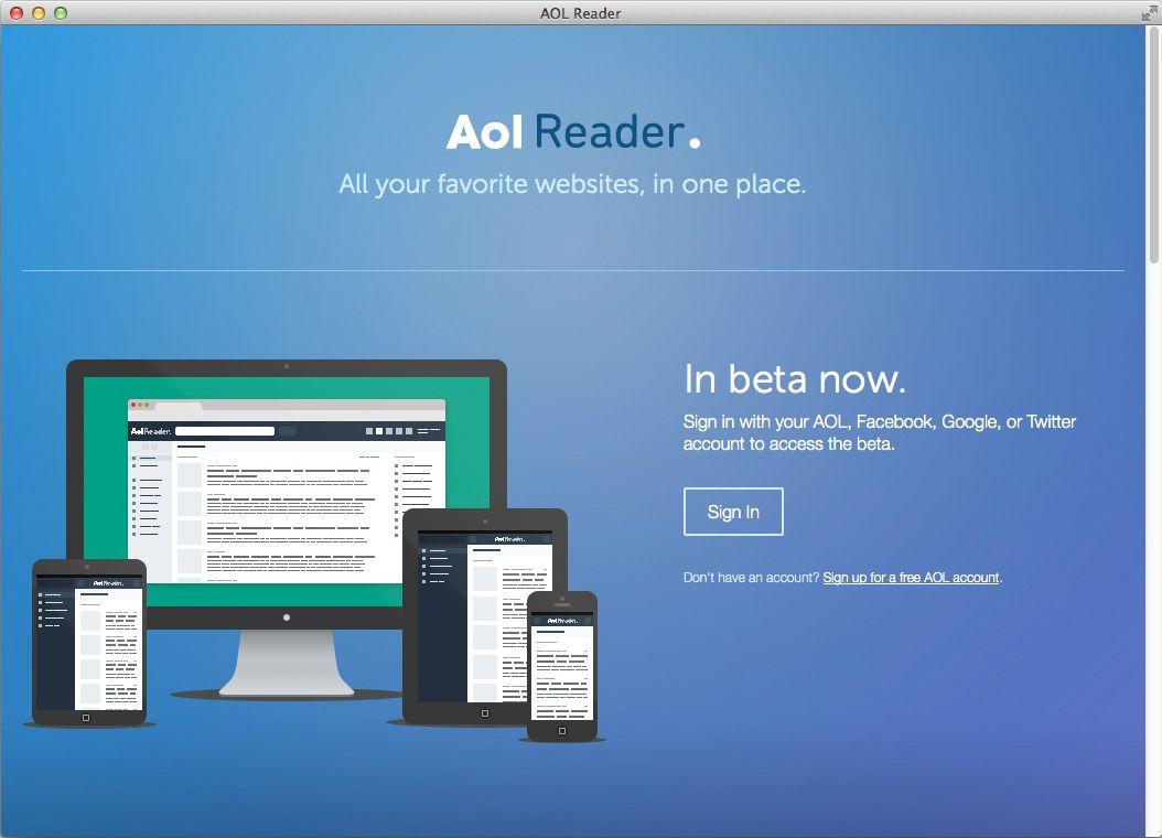 NUR ALS ZITAT Screenshot AOL Reader