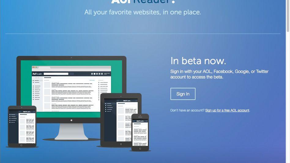 AOL Reader: Anmeldung auch mit einem Google-Account