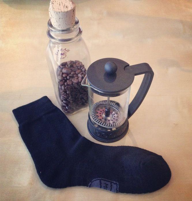 Atlas-Socke: Mit Kaffee gegen Fußgeruch