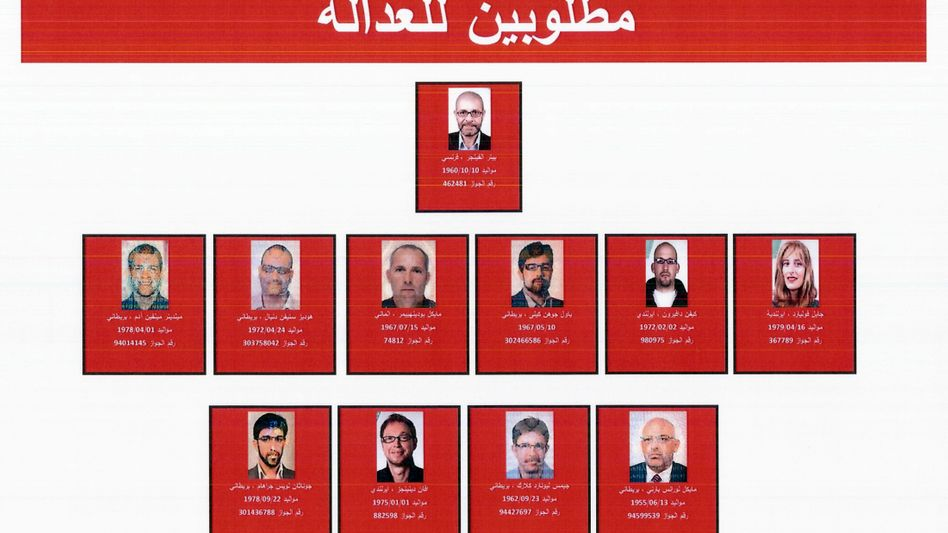 An image released by the Dubai police last week showing the 11 people suspected to have been involved in the killing of Hamas functionary Mahmoud al-Mabhouh.