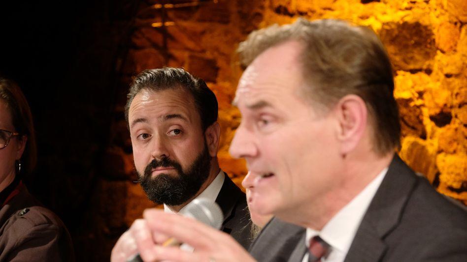 Burkhard Jung (rechts) und Sebastian Gemkow (links): Entscheidung im zweiten Wahlgang