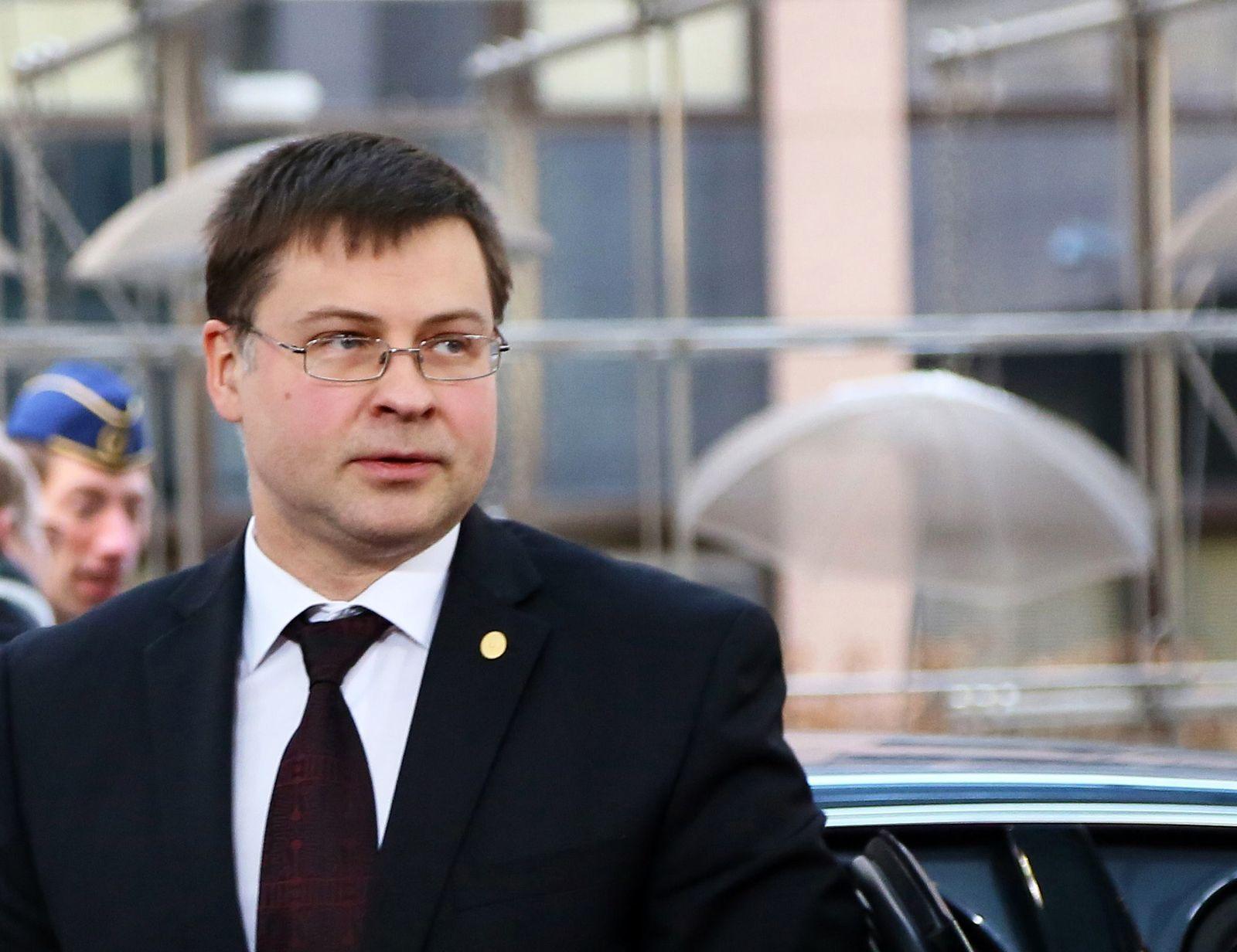 Valdis Dombrovskis / lettischer Premierminister
