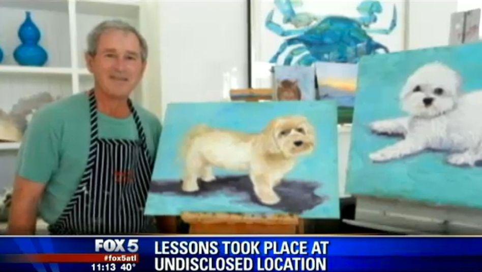 """G.W. Bush mit seinen Werken: """"Große Leidenschaft für die Malerei"""""""