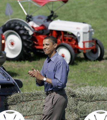 Demokratischer Präsidentschaftskandidat Obama bei einem Wahlkampfspenden-Termin: 20 Millionen Dollar im dritten Quartal