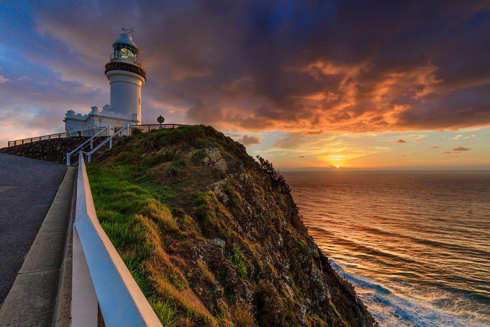 Byron Bay Lighthouse with Sunrise