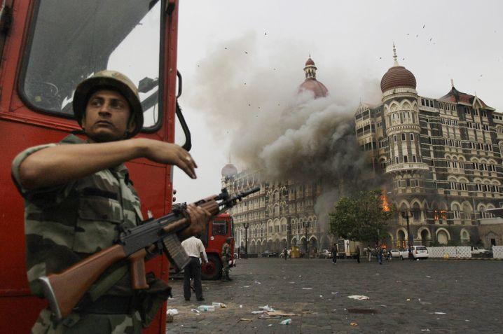 Terroranschläge von Mumbai (2008): Brennendes Taj-Mahal-Hotel
