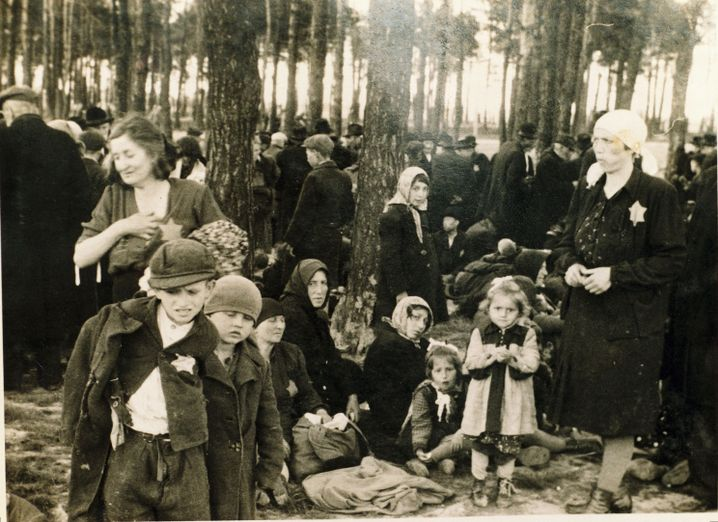 Hungarian Jews at Auschwitz in 1944.