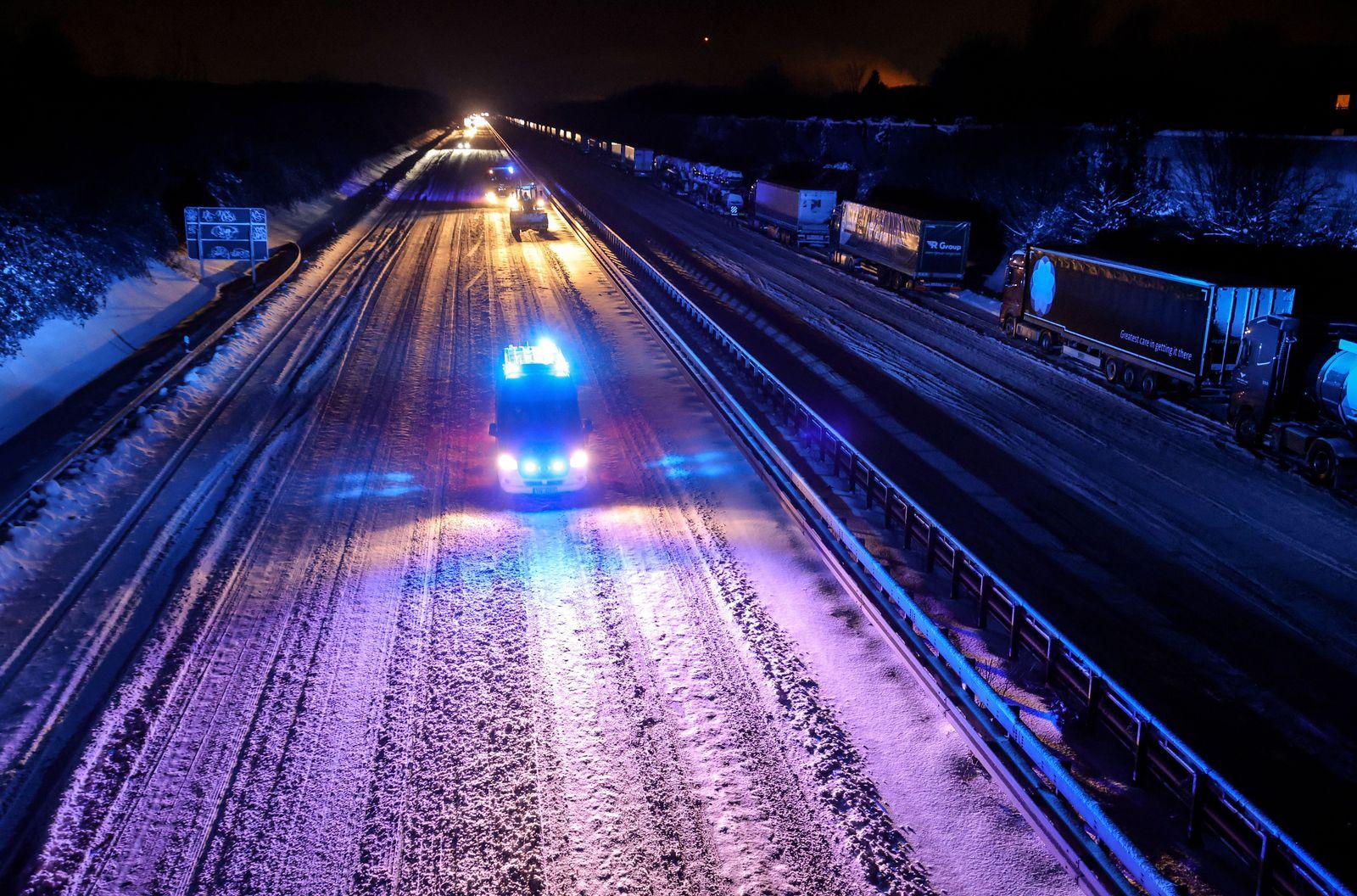 Snow front hits western Germany, Dortmund - 08 Feb 2021