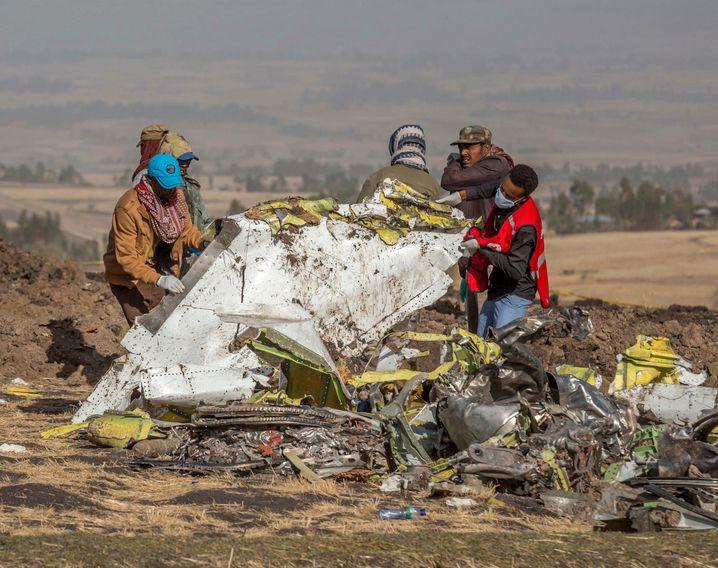 Absturzstelle von Flug 302 der Ethiopian Airlines, 11. März 2019