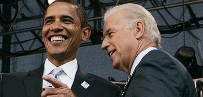 Obama mit Biden (2007): Erfahrener Wahlkämpfer und Außenpolitiker