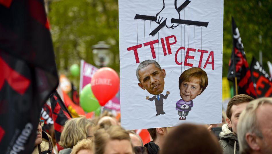 Protest gegen TTIP und Ceta