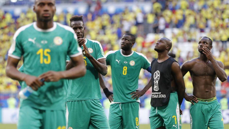 Senegals Mannschaft nach dem Aus