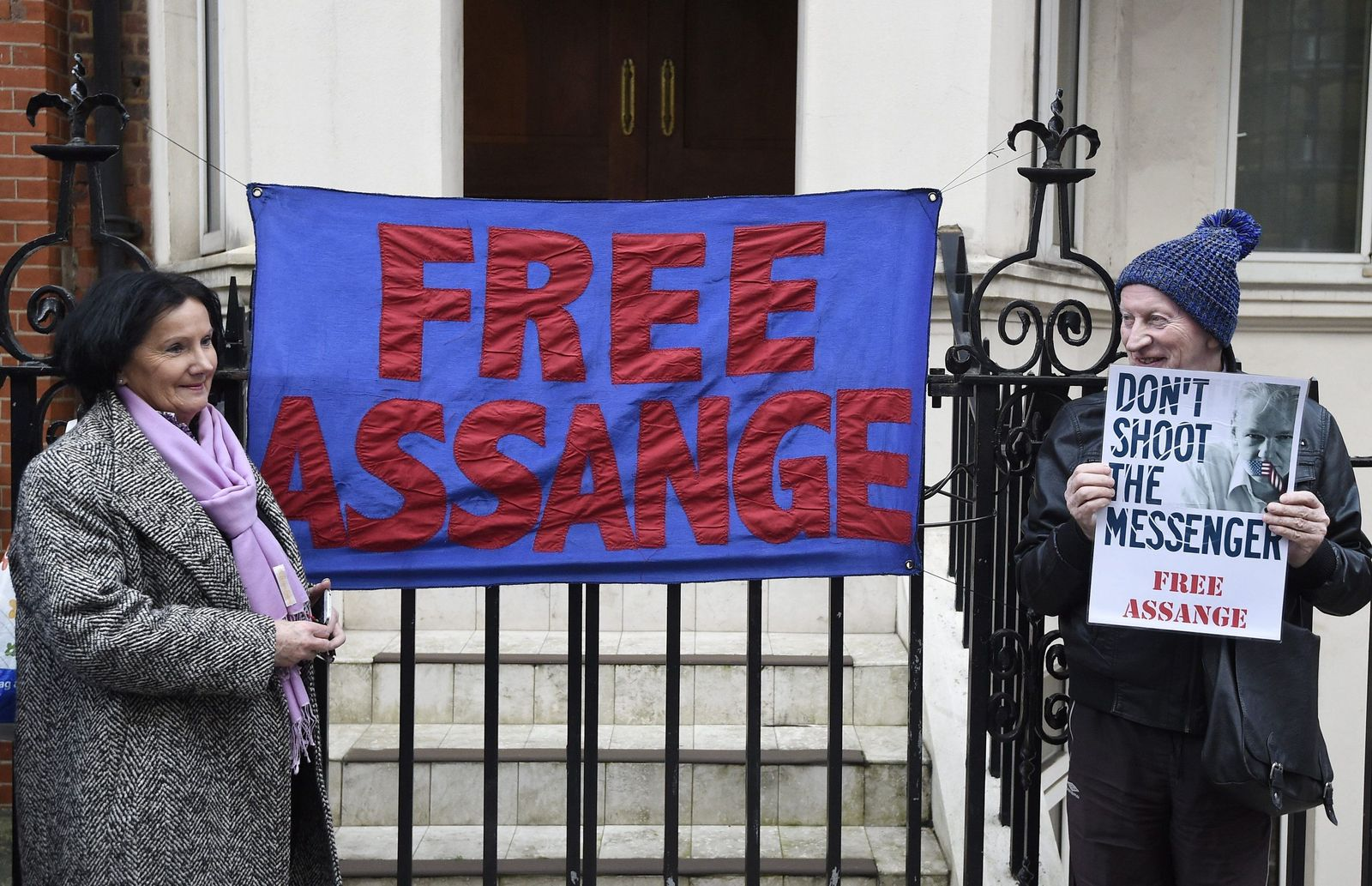 Unterstützer von Julian Assange London