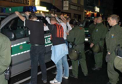 Polizei-Einsatz (in Frankfurt): Randalierer meistens alkoholisiert
