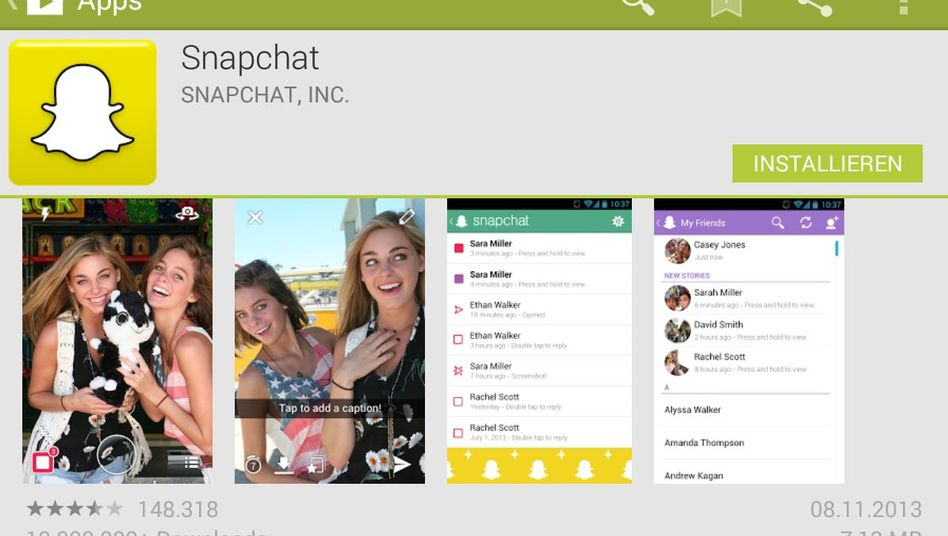 SCREENSHOT Snapchat / App / Android / Foto-App