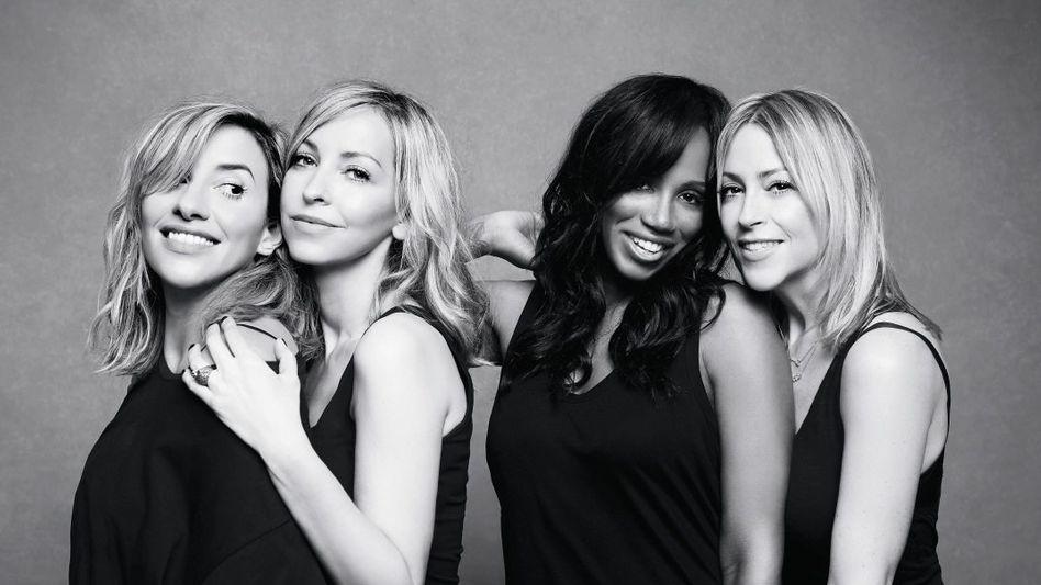 All-Saints-Sängerinnen Melanie Blatt, Natalie Appleton, Shaznay Lewis, Nicole Appleton