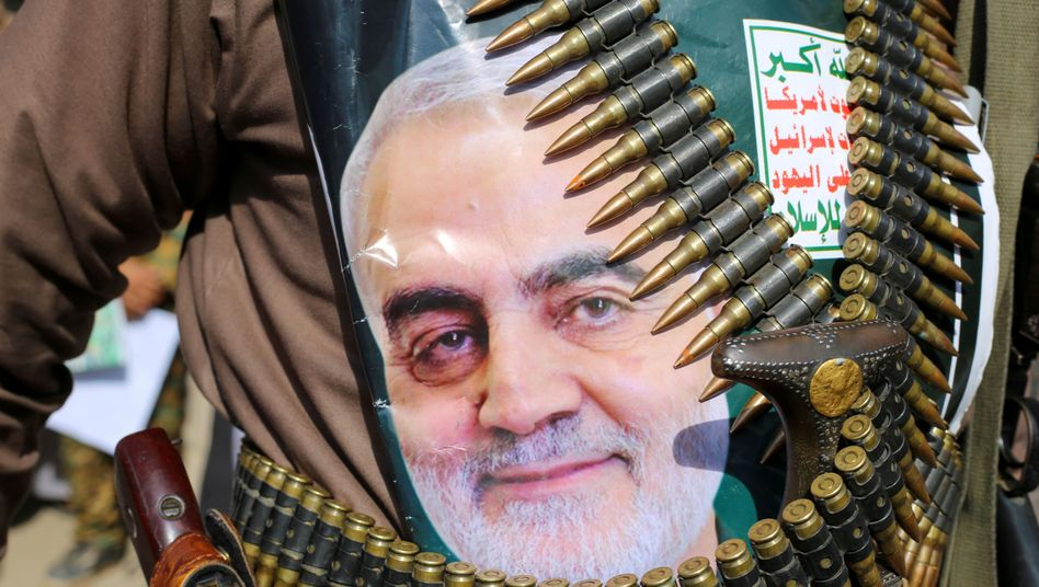 Qassem Soleimani, the head of the Quds Force who was killed in a U.S. drone strike last week.