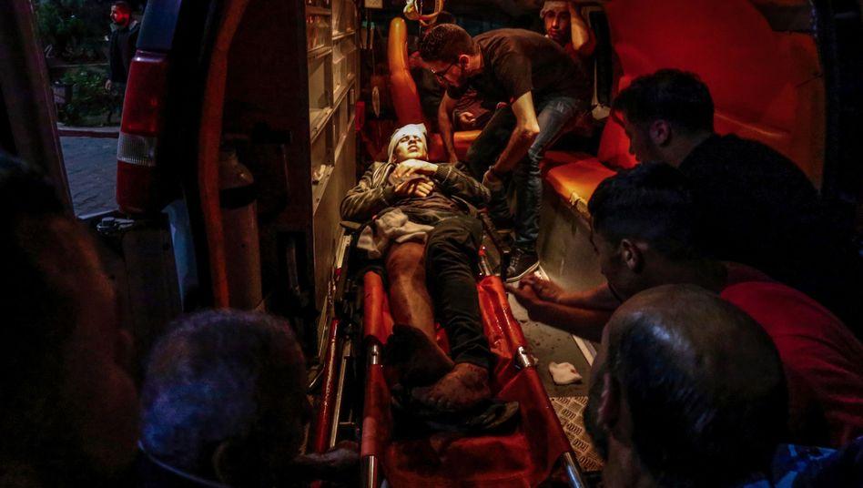 Verletzter Palästinenser in Beit Lahia (Gazastreifen)