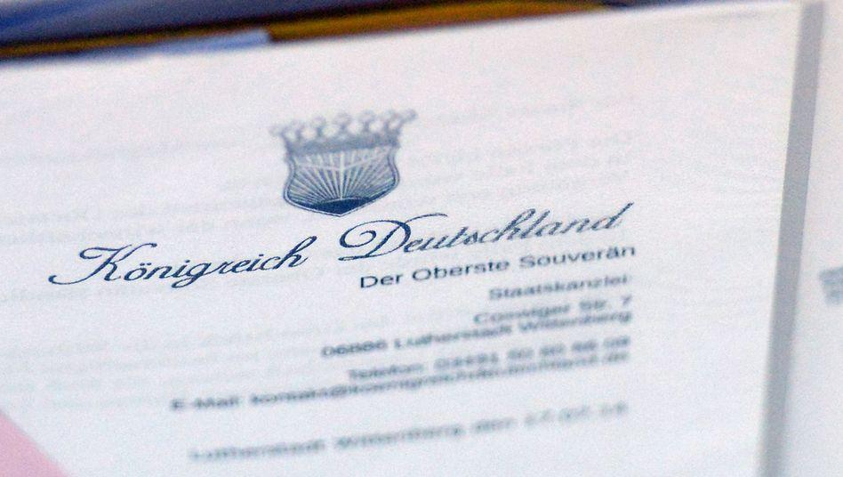 Briefkopf eines selbst ernannten Reichsbürgers