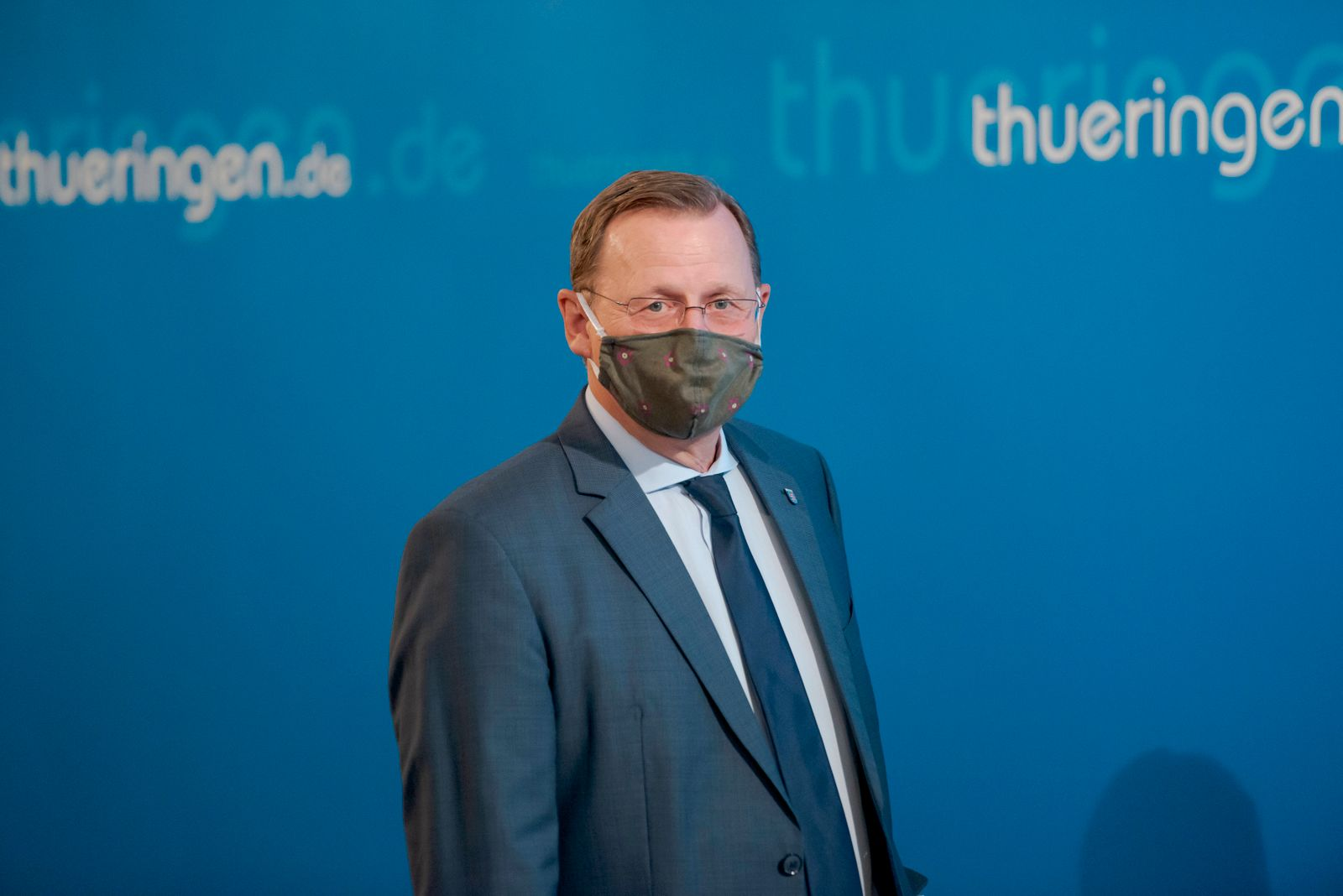 PRESSEKONFERENZ - SITZUNG THÜRINGER LANDESREGIERUNG MIT KIRCHEN 25/05/2020 - Erfurt: Der Thüringer Ministerpräsident Bod
