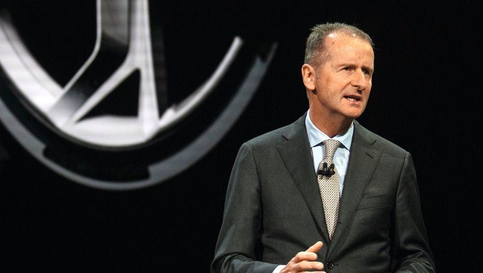 VW-Vorstandsvorsitzender Diess:Kompromisse beim Klimaschutz
