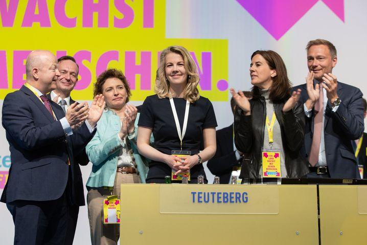 FDP-Parteitag im April 2019 mit Michael Theurer, Volker Wissing, Nicola Beer, Linda Teuteberg, Katja Suding und Christian Lindner