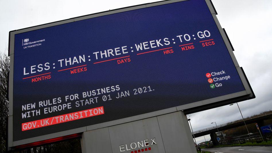 Informationskampagne in Großbritannien: Ende des Jahres endet die Übergangsphase nach dem EU-Austritt der Briten