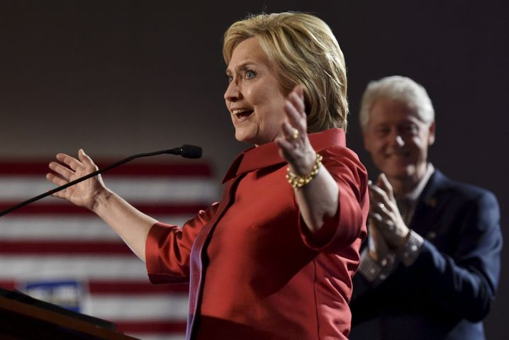 Aufatmen in Nevada: Hillary Clinton siegt vor ihrem Rivalen Bernie Sanders