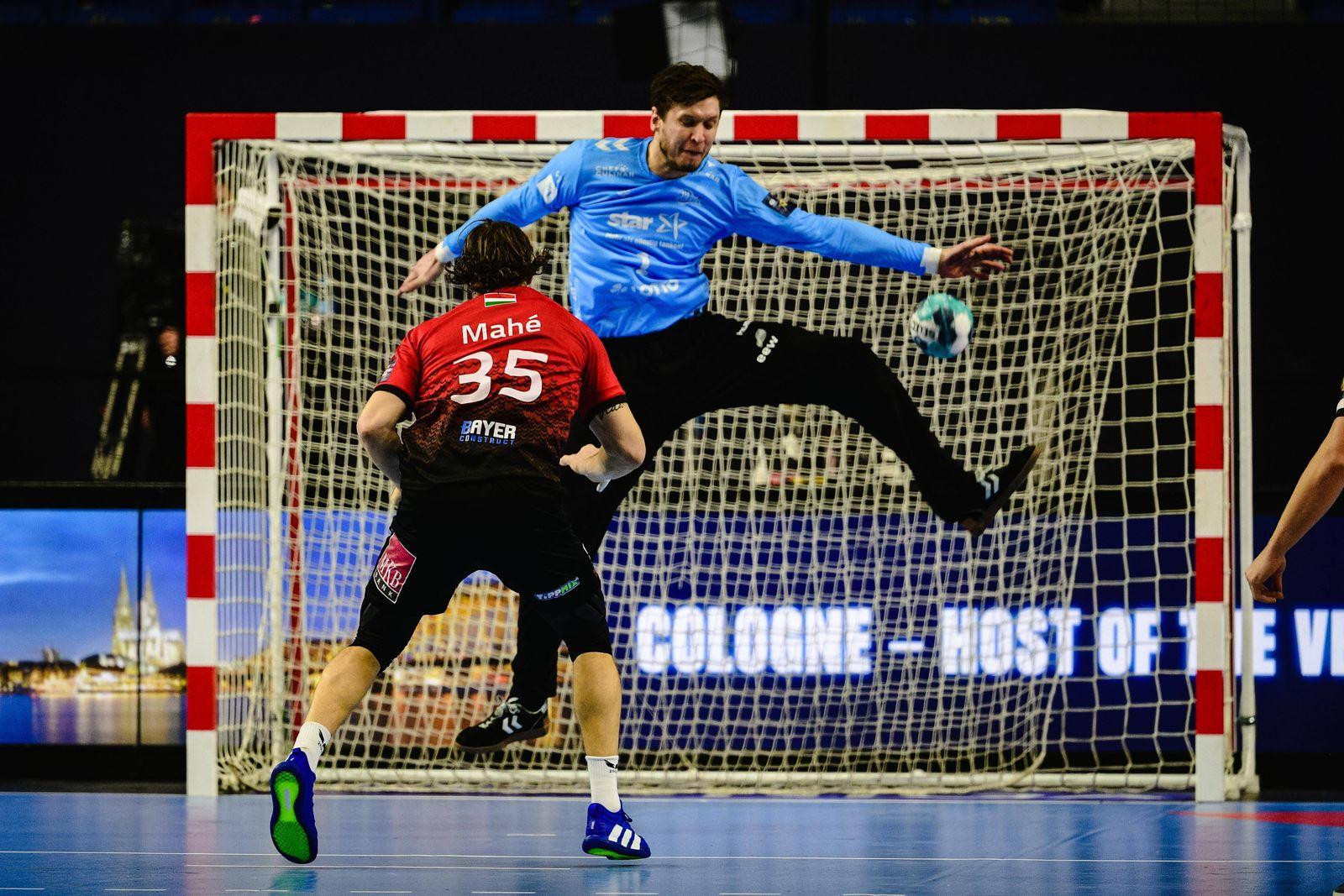 Handball EHF Final4 Halbfinale THW Kiel - Telekom Veszprem am 28.12.2020 in der Lanxess Arena in Köln Kentin Mahe ( Ves