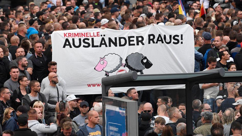 Rechte Demonstration in Chemnitz