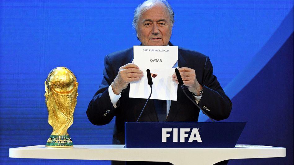 Fifa-Präsident Blatter: Probleme rund um die WM 2022 in Katar