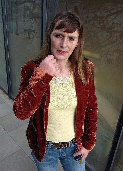 Archive photo showing Christiane F. in 2006.