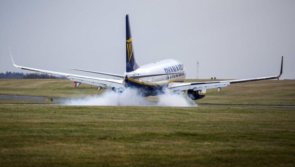 Ryanair-Maschine in Leeds