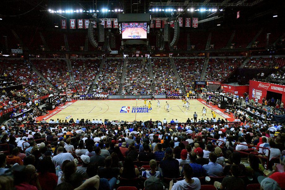 NBA-Spielfeld mit Dreierlinien (Archivbild)