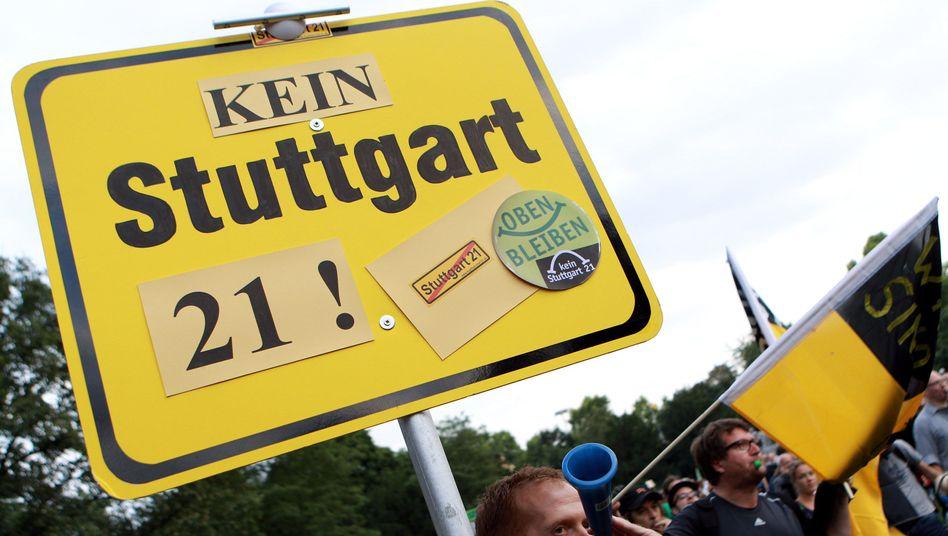 """Protest gegen """"Stuttgart 21"""": """"Die Grundlage für ein ernst gemeintes Gespräch fehlt"""""""