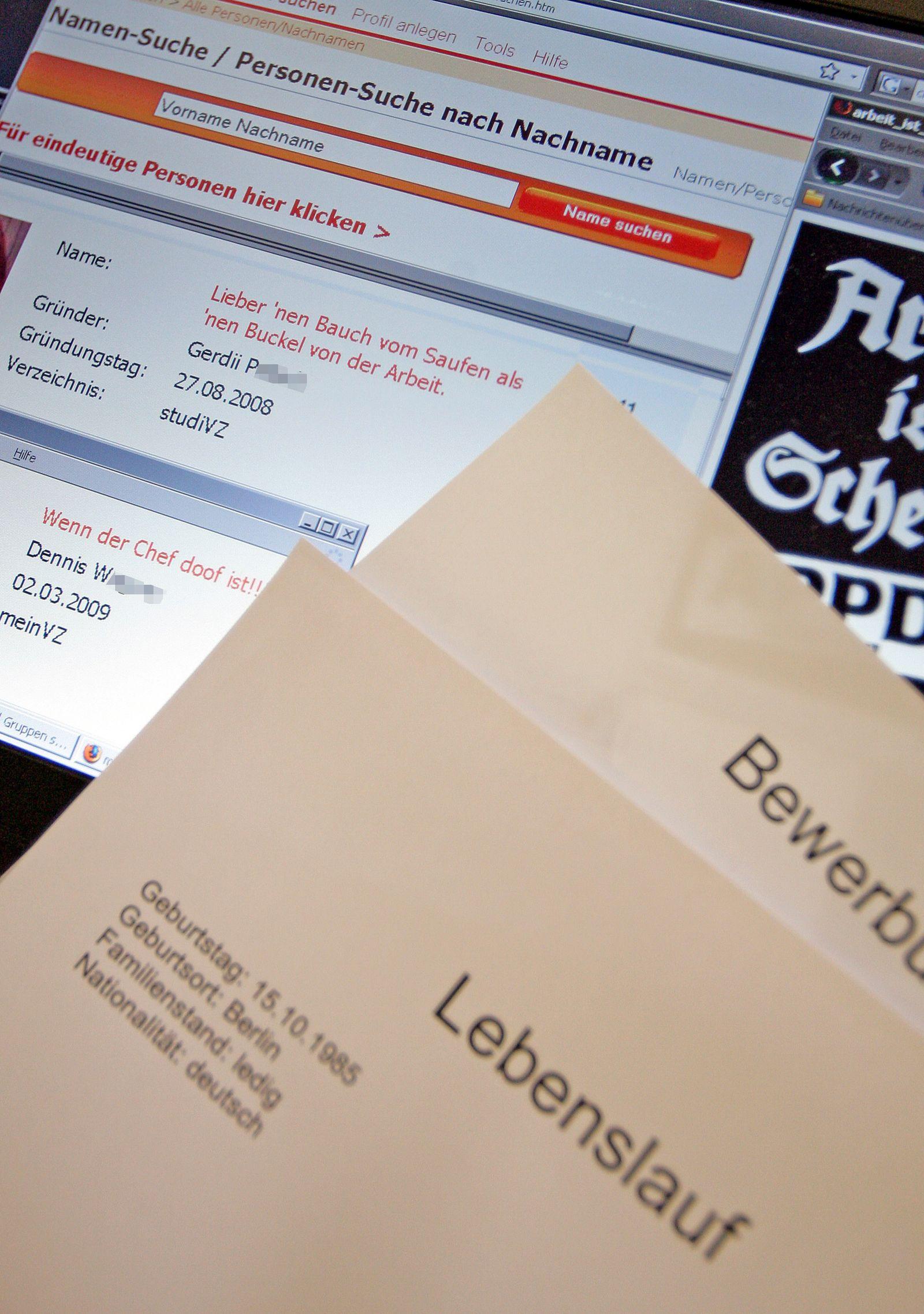 Firmen suchen Bewerber-Daten im Internet