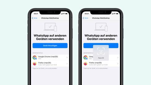 Biometrische Identifizierung auf einem iPhone