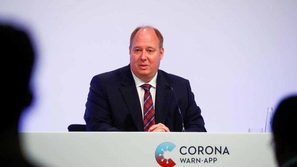 Kanzleramtschef Braun bei der Präsentation der Corona-Warn-App Mitte Juni in Berlin