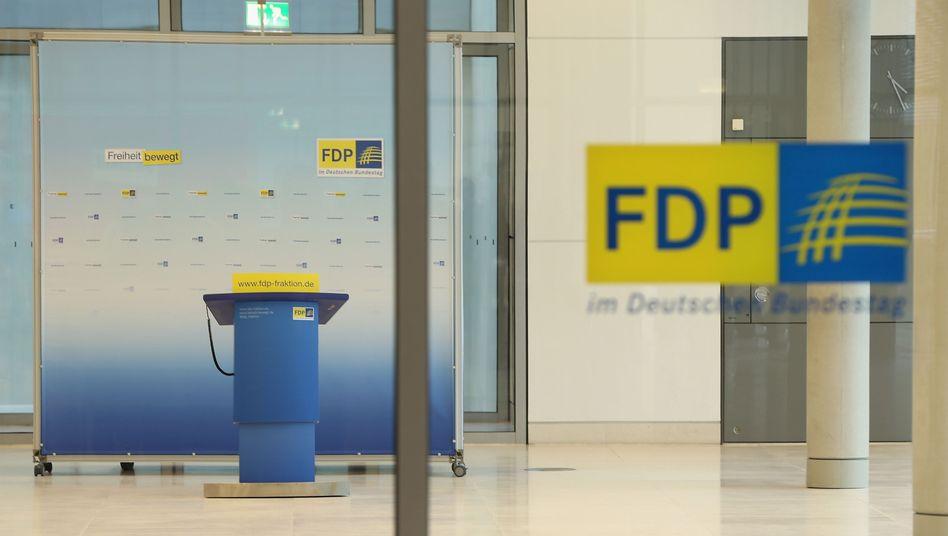 Verlassener FDP-Flügel im Bundestag (2013)