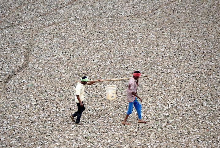 Klimawandel extrem: Trockenheit im Juni 2019 nahe der südindischen Metropole Chennai