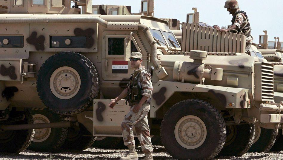 Irakische Soldaten im Camp Taji (Archivbild)