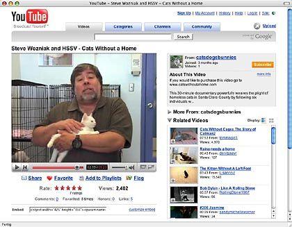 Apple-Mitgründer: Steve Wozniak mit Kater Max