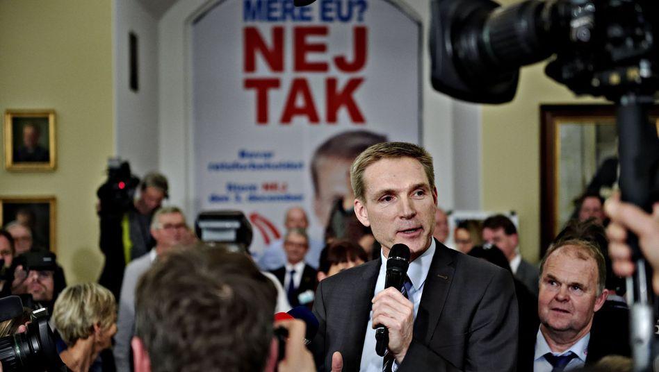 Volkspartei-Chef Dahl Thulesen: Freude über das Nein